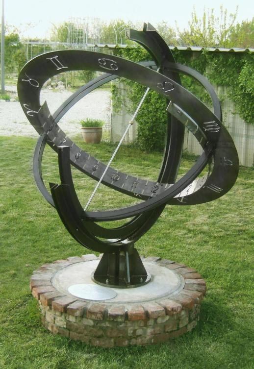 Orologio Con Pannello Solare : Orologi solari su sfera armillare